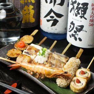 『串粋』に来たらまずこれ!贅沢に味わう創作串焼きを◎