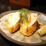 玉椿 - マスカル明太のカナッペ