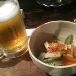 さすらい人 - 生ビールと酢の物
