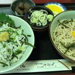 京金 - しらす丼セット 850円。