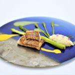 Grand rocher - 長崎県産のイトヨリ、  サフランのソース、  クレソンのソース