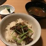 70347186 - 牛しぐれ煮ご飯