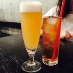 ハナファームキッチン - セットのビールと烏龍茶