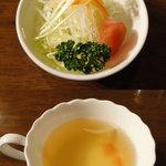ホーリーズ - 8周年特別ランチ(930円)セットサラダとスープ
