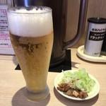 坂内 - 生ビール小360円とつまみ小皿