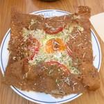 マロ ガレット アンド キッシュ - 鶏ひき肉とディジョン風マスタード炒めとトマトのガレット