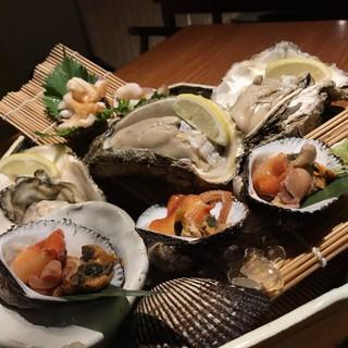 活けいしかげ貝(白とり貝)、日本一の京丹後の岩牡蠣!