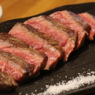 """格別の味わい【牛肉の鉄板焼き】は""""テッパン""""の美味しさです○"""