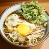 そば うどん 元長 - 料理写真:春菊そば¥380 +生玉子¥50