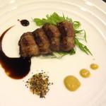 鉄板焼 花 - イベリコ豚 ベジョータの鉄板焼き。