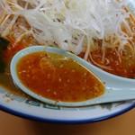 地獄ラーメン 田中屋 - 地獄スープ