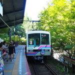 Kifunekiraku - 貴船口での叡山電車
