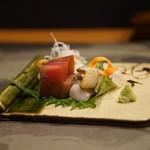 平花とんぼ - 鮑、本鮪、ツブ貝、ウマズラハギ
