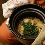 平花とんぼ - 鯛と紫蘇の炊き込み御飯