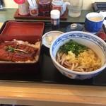 天霧さぬきうどん - うな重御膳(1600円)