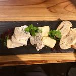 ブリューパブ テタールヴァレ - チーズ盛り合わせ