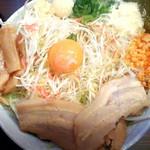支那そば 無双庵 - 料理写真:汁なし海老野菜ましにんにくしょうが大盛り960円