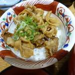 うどん むぎの蔵 - 郷ポークミニ豚丼