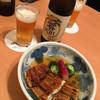 赤坂 ふきぬき - 料理写真:鰻ざくとノンアルビール