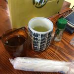 70390083 - お茶とおしぼりとさんしょう