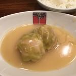 アカシア - 料理写真:豚メンチカツとロールキャベツ ライス付(1000円)