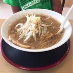 ガッツリラーメン 暁 - 学生ラーメン 麺小 野菜小