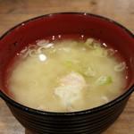 MADE IN JAPAN かにチャーハンの店 - 味噌汁
