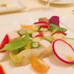 ランコントル - 料理写真:【冷たいオードブル】 大山鶏と野菜のゼリー寄せ