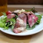 家庭料理 小川 - ローストビーフのサラダ