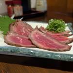 居酒屋 あぐんちゃー - 自家製牛肉のたたき