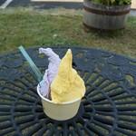 LATTE - 完熟マンゴー&ブルーベリーヨーグルトのダブルカップ380円