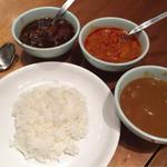 ザ・グローバルブッフェ クーリア - カレー(カシミールカレー、レッドカレー、野菜カレー)