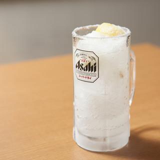 当店名物!冷凍庫でガチガチに冷やした特製レモンサワー☆