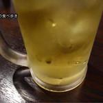 居酒屋のぶさん - 緑茶ハイ