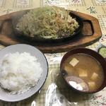 かどき食堂 - 肉野菜炒め定食