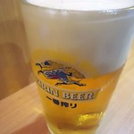 大衆酒場 晩杯屋 - 「生ビール」410円也。