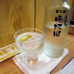 大衆酒場 晩杯屋 - 「灘流儀」冷酒。370円也。
