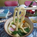 研考練 - 吉田うどん麺のまわりに衣がつきます。