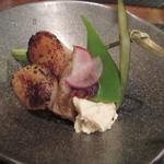 蕾 - 【鴨茄子の南蛮と帆立の炙り焼き】(ミニ懐石ランチ 2000円)