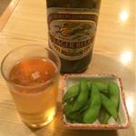 70408712 - 瓶ビール550円とお通し100円