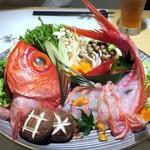創作割烹 東 - 金目鯛のしゃぶしゃぶ