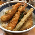 てんぷら 味覚 - お任せ天丼1600円