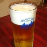 香満楼 - 生ビール。
