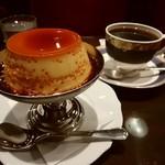 御多福珈琲 - プリン、ブレンドコーヒー