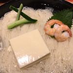 上野藪そば - 見事な味わいの卵豆腐