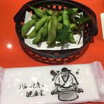 上野藪そば - 枝豆(709円)
