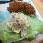 海路 - 美味しいカニクリームコロッケに美味しいボリューミーポテトサラダが付いて¥300。色々変!!