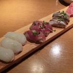 魚金 - 寿し三昧780円