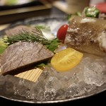 宮崎尾崎牛 肉割烹 吟 - ☆テール煮凍り&燻製ハム(#^.^#)☆
