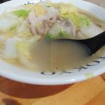 白菜タンメン楽観 - スープ